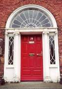 Georgian door with sidelites and elliptical fanlite