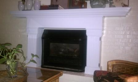 MAntel and surround by home owner Dennis Kennedy