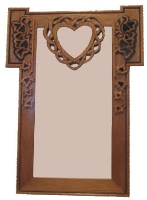 dove and heart mirror