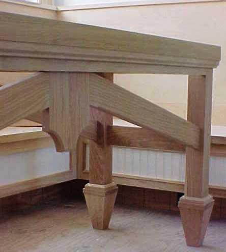 white oak table