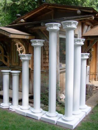 wedding columns