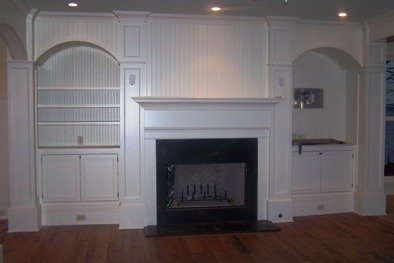 fireplace cabinetry and trim